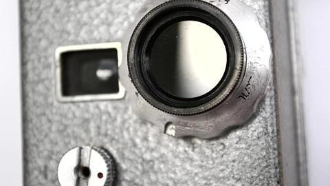 Old Hand Held Reel Film Camera 8 Footage