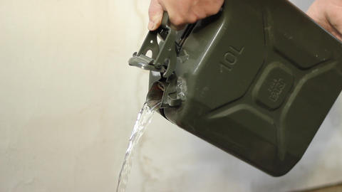 Pouring Canister Footage
