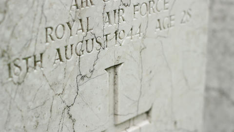 RAF Pilot Tombstone stock footage