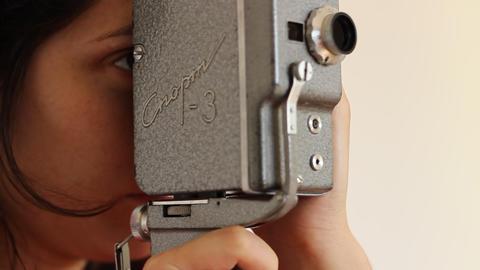 Retro 8mm Film Camera Footage