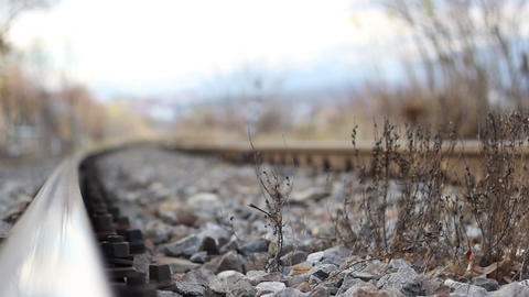 Running Focus on Railway Footage