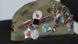 Soviet Communist Medals stock footage
