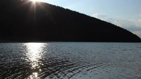 Sun Reflections on Lake Surface Footage