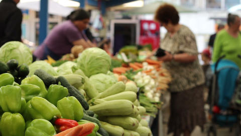 Vegetables Market Footage
