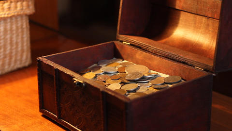 Woman Opens Treasure Chest Footage