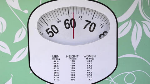 Woman Weight Controlling Test stock footage