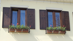 Wooden Windows Frames Footage