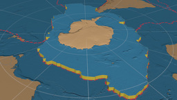 Antarctic Tectonic Plate. Bumps stock footage