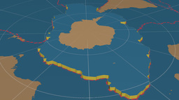 Antarctic Tectonic Plate. Solids stock footage
