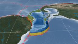 Caribbean tectonic plate. Blue Marble Animation
