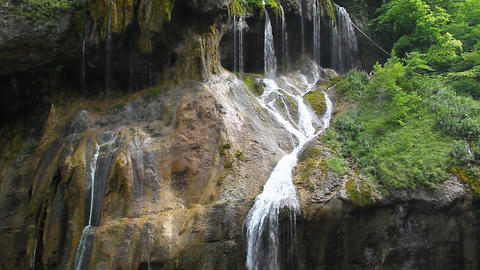 Gorgeous waterfall falling from a high cliff, Cheg Live Action