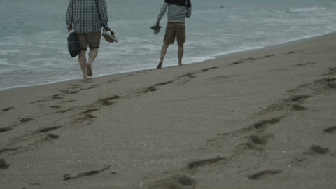 walk on the beach Footage