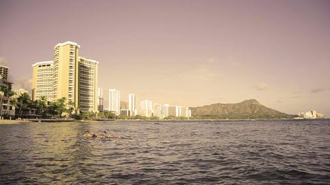 Waikiki Hawaii Surfers Footage