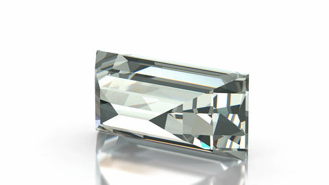 Baquette cut diamond Animation