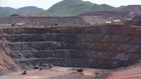 Industrial Mining Pit and Heap Leaching Footage