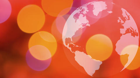 World globe spinning pastel background Animation