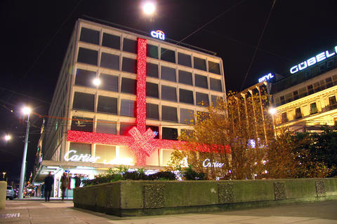 Geneva at christmas Footage