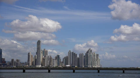 Panama City Central America View Of Buildings And  Footage