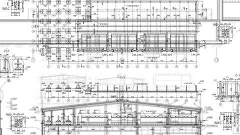 Construction Drawings Background Blue Print Live Action