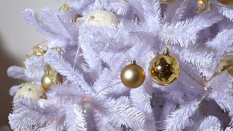 Christmas tree dressed up toys Footage
