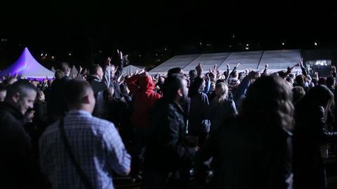 Crowd at rock concert Footage