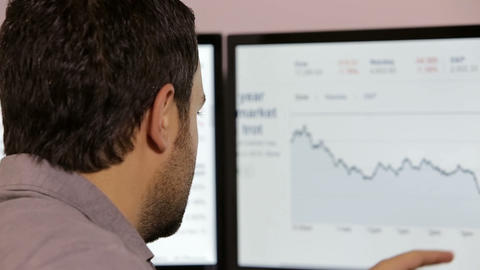 Businessman Checking Stock stock footage