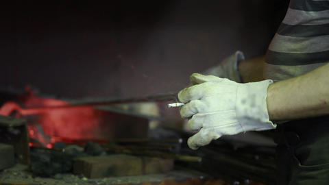 Worker With A Cigarette In His Hand stock footage