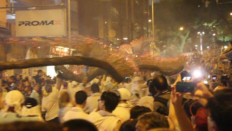 Tai Hang Fire Dragon Dance at Tai Hang, Hong Kong, China Footage