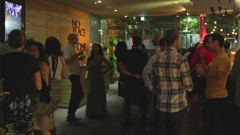 Taipei Nightlife - International Cocktail Social E stock footage