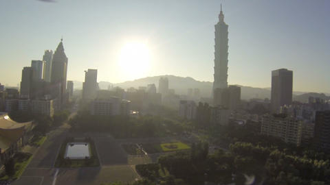 aerial over sun yat sen memorial park Footage