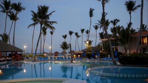 Quiet summer evening on tropical resort Footage