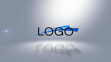 Sliced Logo Reveal stock footage