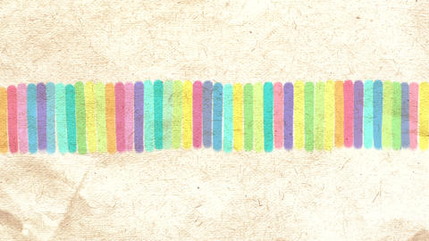 Hand drawn colorful abstract background animation Animation