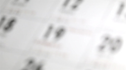Close up of Chinese new year date on calendar Stock Video Footage