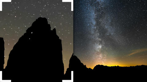 time lapse night climbing tre cime de lavare 11599 Footage