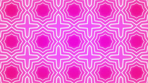 Star Radiation Kaleida magenta Animation