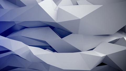 Adstract 3d geometric shapes in motion. VJ Loop Animation