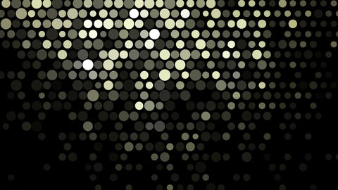 Golden glowing mosaic abstract background Animation