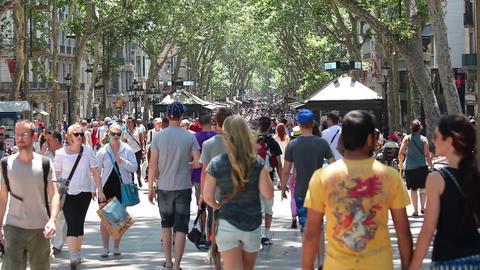 La Rambla, Barcelona Spain Footage