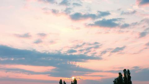 Sunrise timelapse clouds Footage