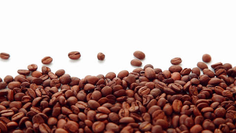 Dolly shot coffee beans seeds Footage