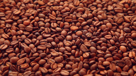 Coffee beans dolly shot Footage