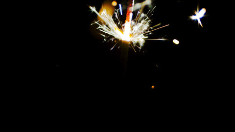Fireworks sparks of sparklers Stock Video Footage