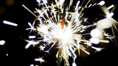 Fireworks Sparks Of Sparklers stock footage