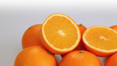 Orange ripe fruits Footage