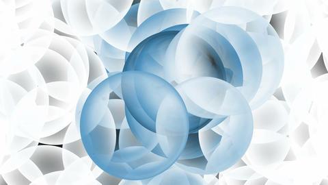 3d blue glass balls... Stock Video Footage