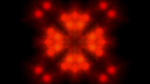 red flower lotus pattern,disco light.Buddhism Mandala... Stock Video Footage