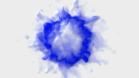 abstract blue splash shape fire or... Stock Video Footage