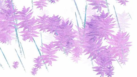 purple swing leaves,watercolor style,spring... Stock Video Footage