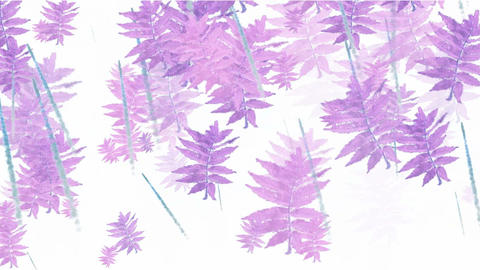 purple swing leaves,watercolor style,spring scenery.botany,environment,fresh,garden,grass,spring,gro Animation